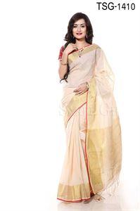 Picture of Cotton Jari Par Saree - TSG-1410
