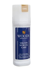 Picture of Woods Velour Nubuk Care Liquid Polish - Camel