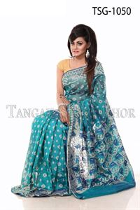 Picture of Moslin Jamdani Saree - TSG-1050