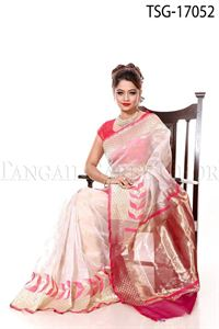 Picture of Tisue Buty Katan Saree - TSG - 17052