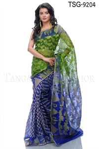 Picture of Moslin Jamdani Saree - TSG - 9204