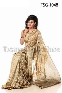 Picture of Moslin Jamdani Saree - TSG-1048