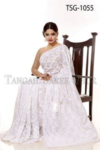 Picture of Moslin Jamdani Saree - TSG-1055