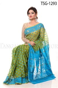 Picture of Moslin Jamdani Saree -TSG -1293