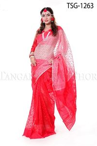 Picture of Moslin Jamdani Saree - TSG-1263