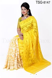 Picture of Moslin Silk Jamdani Saree - TSG-8147