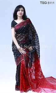 Picture of Moslin Jamdani Saree - TSG-3111