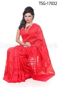 Picture of Jamdani Silk Katan Saree - TSG - 17032