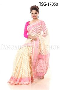 Picture of Jute Jamdani Katan Saree - TSG - 17050