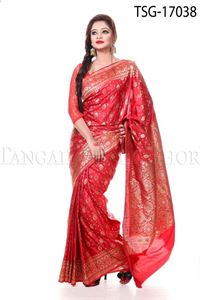 Picture of Katan Mina Buty Saree - TSG - 17038
