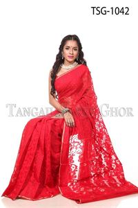 Picture of Moslin Jamdani Saree - TSG-1042