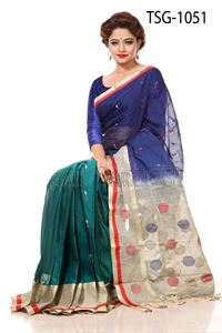 Picture of Moslin Cotton Saree - TSG-1051