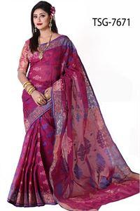 Picture of Cotton Jamdani Saree - TSG-7671