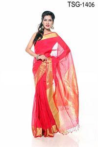 Picture of Cotton Jari Par Saree - TSG-1406