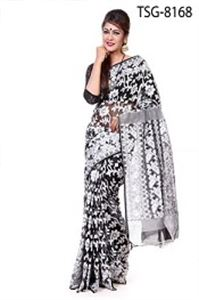 Picture of Soft Moslin Jamdani Saree - TSG-8168