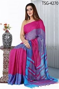 Picture of Soft Cotton Saree - TSG-4270