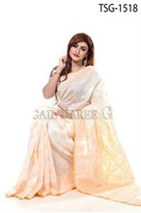 Picture of Silk Jamdani Saree - TSG-1518