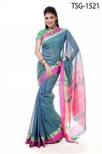 Picture of Silk Cotton Saree - TSG-1521