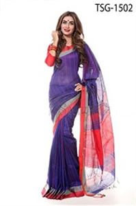 Picture of Silk &Cotton Mixed Saree - TSG-1502