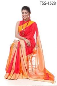 Picture of Silk & Cotton Mixed Saree - TSG-1528