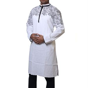 Picture of Cotton Semi  Long White Panjabi for men mfz-6