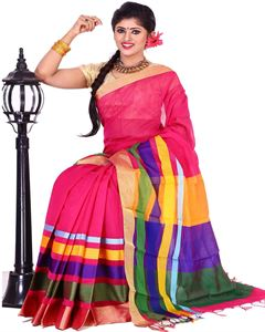 Picture of Half Silk Saree - TSG-7821