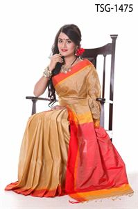 Picture of Tashar Silk Saree - TSG-1475