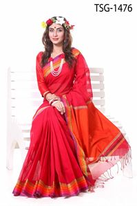 Picture of Pure Cotton Saree - TSG-1476