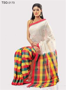 Picture of Pure Cotton Saree - TSG-2173