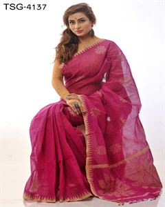 Picture of Pure cotton saree - TSG-4137
