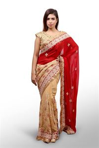 Picture of Georgette and embroidery work saree ssc-735