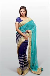 Picture of Georgette and embroidery work saree ssc-736