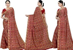 Picture of chundi silk saree n-045