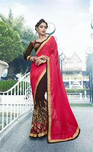 Picture of Georgette and embroidery work saree nsc-716