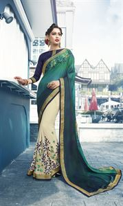 Picture of Georgette and embroidery work saree nsc-718