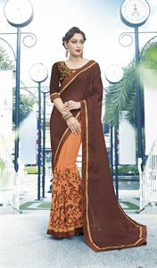 Picture of Georgette and embroidery work saree nsc-719