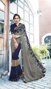 Picture of Georgette and embroidery work saree nsc-720