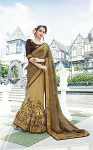 Picture of Georgette and embroidery work saree nsc-721