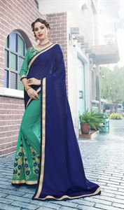 Picture of Georgette and embroidery work saree nsc-722