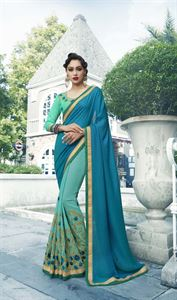 Picture of Georgette and embroidery work saree nsc-723