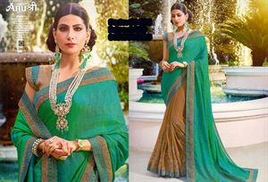 Picture of Georgette and embroidery work saree ssc-725