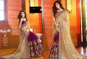 Picture of Georgette and embroidery work saree ssc-726
