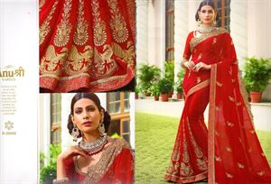 Picture of Georgette and embroidery work saree ssc-727