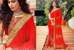 Picture of Georgette and embroidery work saree ssc-731