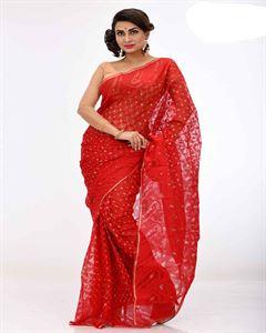 Picture of  Moslin Jamdani Saree -TSG-9198