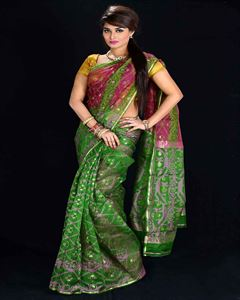 Picture of  Moslin Jamdani Saree -TSG-9253