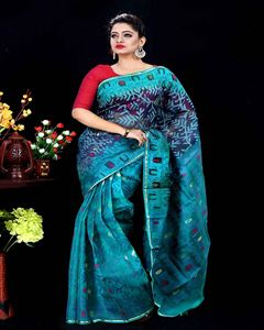 Picture of  Moslin Jamdani Saree -TSG-9301
