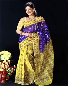 Picture of  Moslin Jamdani Saree -TSG-9312