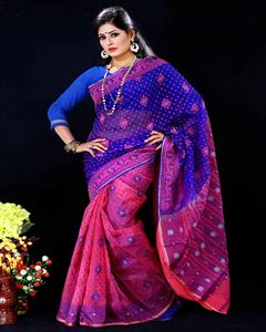 Picture of  Moslin Jamdani Saree -TSG-9314
