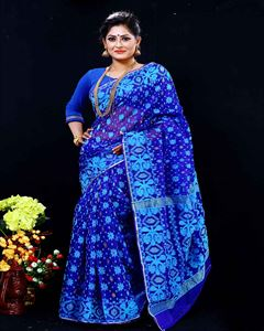 Picture of  Moslin Jamdani Saree -TSG-9315